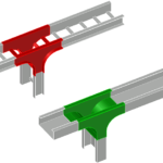 vertical cable tray tees